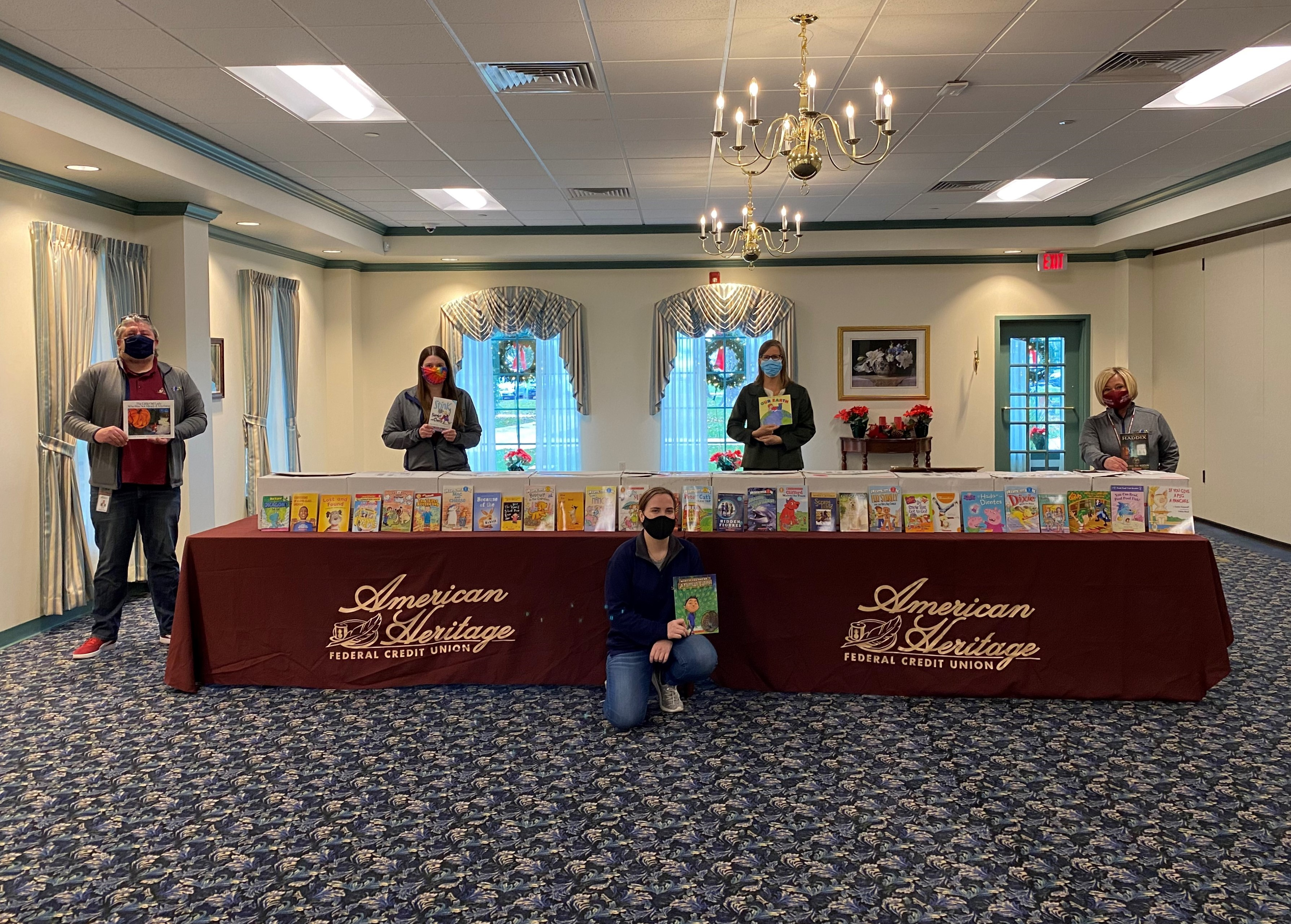 American Heritage donates books to CHOP's Reach Out and Read Program