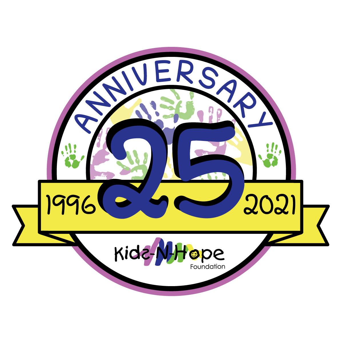 Kids-N-Hope 25th Anniversary Logo